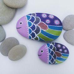 Büyük balık -küçük balık  Taşboayama#accessory #stone #hediyelik #desing…
