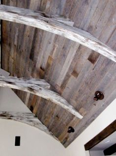 Use reclaimed wood from an old farmhouse to add texture to any room.