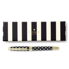 Kate Spade New York To Do List Ball Point Pen ($36) ❤ liked on Polyvore featuring home, home decor, office accessories, black ball point pen, kate spade, black ballpoint pen, kate spade office accessories and kate spade ballpoint pen