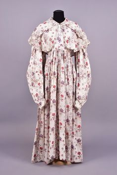 Day Dress (image 1) | 1830s | printed cotton | Whitaker Auctions | Spring 2017