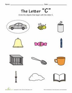 Practice alphabet phonics with your preschooler! Each worksheet features pictures of things that start with the featured letter, and some that don't. Can she identify the things that start with each letter? Alphabet Phonics, Alphabet Activities, Craft Activities For Kids, Worksheets For Kids, Phonics Worksheets, Writing Worksheets, Preschool Workbooks, Preschool Education, Preschool Learning