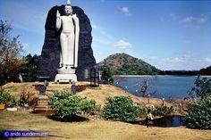 The impressive replica of Avukana Buddha in Giritale, Sri Lanka