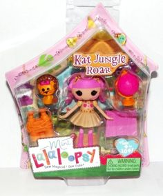 Kat Jungle Roar Mini Doll Sewn from A Safari Outfit Sewn on September 4th (National Wildlife Day) Pet Lion