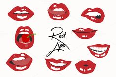 9 Red Hot Lips Graphics by Paperly Studio on @creativemarket