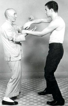 Grandmaster Ip Man and his most famous pupil, Bruce Lee Siu Long. Wing Chun.