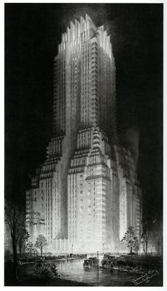The Majestic Hotel 1930; illustration by Hugh Ferriss