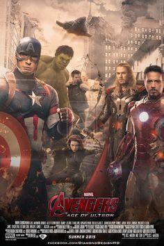 Avengers: Age of Ultron (FAN MADE) Poster by DiamondDesignHD.deviantart.com on @deviantART