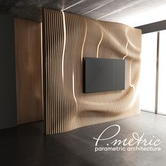 metric Walls Decor on Behance Tv Unit Design, Tv Wall Design, Wood Design, House Furniture Design, House Design, Staircase Storage, 3d Wall Decor, Interior Decorating, Interior Design