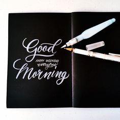 Good morning everyone :) #calligrafikas  #brushpen #watercolorbrush