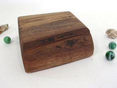 Black Walnut Wooden Box, pet urn, cremation urn, guitar pick holder, cuff links box, groom gift, wood jewelry box, gratitude box, watch box by earnestefforts on Etsy
