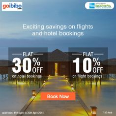 With American Express cards get savings up to Rs.7000 on Hotels & Flights. #amexgo https://www.goibibo.com/amexgo/