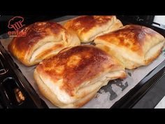 KATMER, rețetă delicioasă de gogoși KATMER - este incredibil de BUNĂ și DELICIOASĂ. - YouTube Donut Recipes, Bread Recipes, Muffin Recipes, Cooking Recipes, Pan Relleno, Easy Pie, Turkish Recipes, Bread Rolls, Beignets