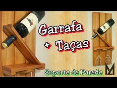 Adega de Parede - Suporte de Garrafa & Taças de Vinho - YouTube