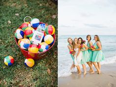 Love the picture; and the mini beach balls!  Fun Fort Lauderdale Beach Wedding