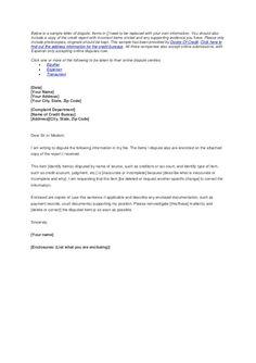 Credit Report Dispute Letter Sample Credit Repair Secrets Exposed