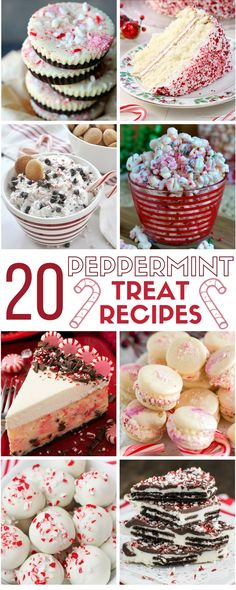 Peppermint Treat Recipe Ideas | Dessert Recipes | Christmas | Holiday | Easy DIY Recipe Tutorial Idea