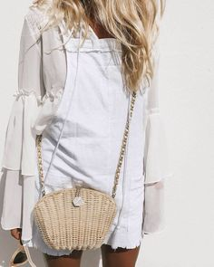 all white chic summer look