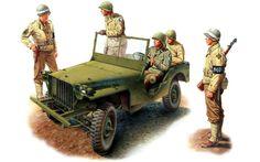 U.S.ARMY Fanti della  29ª Infantry Division (Blue & Gray Division). La Polizia militare è della 4ª Infantry Division.