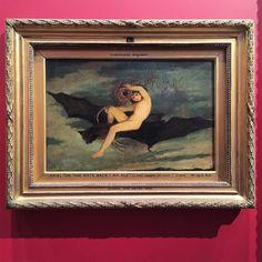 Joseph Severn's painting of Ariel from The Tempest, 1826  #art #museo #painting #paintings #pintura #museum #instamuseum #saints #goth #instabat #bats #sacredart #arte #19thcentury #artwork #instaart #victorian #oilpainting #미술 #flying #fly #gothic #workofart #London #shakespeare #igerslondon #アート #fairy #kunst #bat