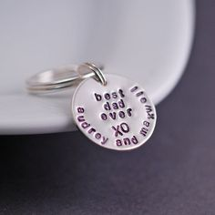 Best Dad Ever Keychain -  Personalized Dad Gift (or Brother, Uncle, or Son by request!) by georgiedesigns,