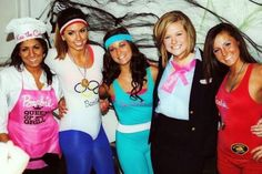 """""""Barbie and Ken"""" themed mixer or exchange Barbie Halloween Costume, Halloween Costume Contest, Barbie Costumes, Barbie Dolls, Sorority Costumes, College Costumes, Cute Costumes, Group Costumes, Costume Ideas"""