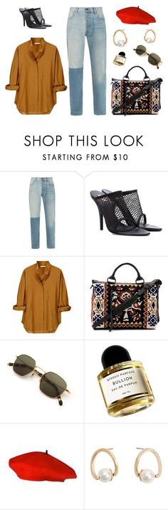 """""""Untitled #7452"""" by amberelb ❤ liked on Polyvore featuring Levi's, Yeezy by Kanye West, Vanessa Bruno, Cleobella, Byredo and MANGO"""