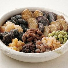 Amanatto, Japanese sweets, made from sugared beans,  sweet potatoes and chestnuts/  甘納豆