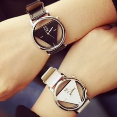How nice Fashion Simple Triangle Hollow Couple Transparent Students Watch ! I like it ! I want to get it ASAP! #watch #women #anchor #accessories