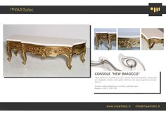 Original restored baroque console, white and gold. By atelier myArtistic www.myartistic.it