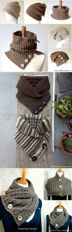 Удобные и практичные шарфы-трансфомеры: вяжем своими руками!