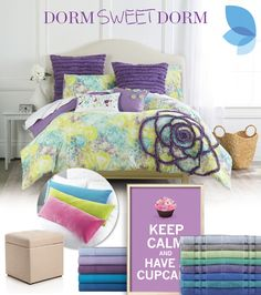 Create your dream dorm look! Grab a colorful comforter, ruffle pillows, towels, sheets, art and more to show off your style. Shop Belk now for all your dorm room essentials.