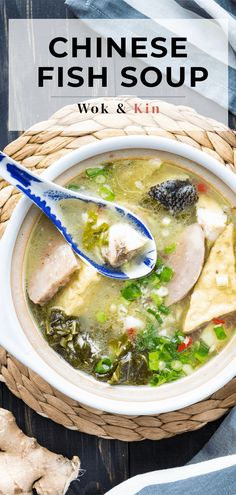 Looking for a recipe to bring back the warmth and stir the soul? Try this Chinese Fish Soup! It's got wonderful bold and homey flavours! Chicken Soup Recipes, Seafood Recipes, Seafood Soup, Cooking Recipes, Chinese Fish Soup Recipe, Chinese Food, Healthy Chinese, Pickled Mustard Greens