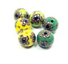 Flower Pairs - Handmade Polymer Clay Beads