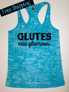 Workout Tank..GLuTeS aNd GLaMOuR...Burnout Racerback Tank Top... Pretty Little Workout Collection on Etsy, $26.00