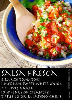 Salsa Fresca at FreshBitesDaily.com