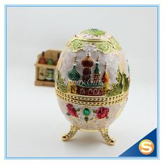 Russian Style Faberge Egg Toothpick holder with Bottle Opener Random Color
