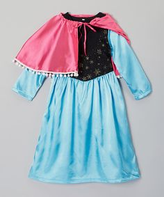 Look at this Just Couture Blue & Pink Cape Dress - Toddler & Girls on #zulily today!