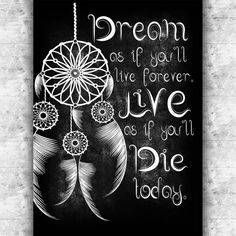 Dream catcher printable art Dreamcatcher quote by GalliniDesign