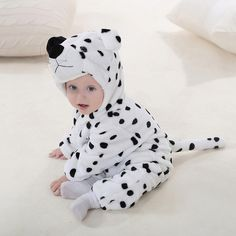 Newborn Toddler Baby Boys Girls Cartoon Animal Hooded Rompers Outfits Clothes (Age 2)