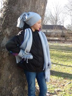 One yard fleece makes a hat, a scarf and lined mittens using this quick and easy pattern developed to be used for creating warm accessories.