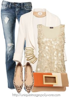 Casual-Chic | Jeans + Casaco + Brilho