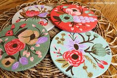 DIY Pretty Painted Coasters