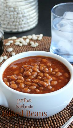 Perfect Barbecue Baked Beans have a tangy sweetness that develops in the oven while baking.   An easy recipe that fills the house with a comforting aroma.