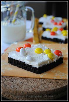 Candy Corn Cake Bars - Shugary Sweets