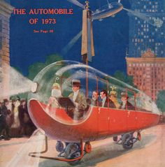 1923 envisions the two-wheeled flying car of 1973.