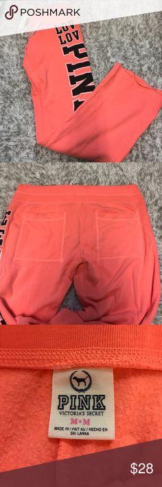 Victoria's Secret PINK Sweatpants Super cute!!! VS PINK sweatpants with pockets on back, size medium PINK Victoria's Secret Pants Track Pants & Joggers