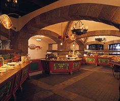Best Disney Restaurants: Biergarten A filling option Disney Vacation Club, Walt Disney World Vacations, Disney Trips, Cinderella Royal Table, Best Disney World Restaurants, Florida Resorts, Disney Dining, Disney Food, Disney Dream