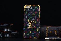 Desinger Louis Vuitton iPhone 6 6S Top Case 4.7 Luxe Top Case Black-Colorful