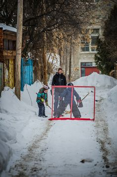 Anywhere in Canada or Minnesota you should be able to find a net for some practice or a pick up game