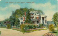 1910s vintage postcard showing the Frank Fowler Residence at Fremont, Nebraska…